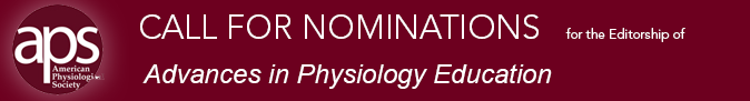 Call for Nominations for EIC of Advances in Physiology Education